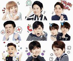 Super Junior #katalk stickers