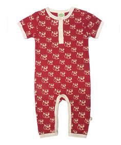 This Red Fox Organic Henley Romper - Infant by Parade Organics is perfect! #zulilyfinds