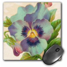 Pansy Watercolor, Mouse Pad, 8 by 8 inches Printer Ink Cartridges, Recycled Rubber, Water Lilies, Teaching Art, Pansies, Walmart, Recycling, Watercolor, Flowers