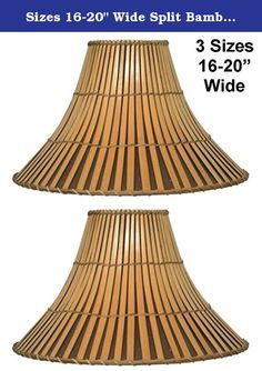 """Sizes 16-20"""" Wide Split Bamboo Lamp Shade Fine Quality Wicker Rattan Lampshade For Table Floor Lamps -Option=20""""wide. FITTING & SIZE HELP Visit Lamp Shade Pro website www.lampshadepro.com Call 704-732-8001 for professional friendly service (9-5 M-F, 9-2 Sat) 1,000's of Lamp Shades & Unique Lighting Many exclusive products designed and made here in the lovely North Carolina foothills Returns accepted, no reason necessary, buyer pays all shipping costs Guaranteed no damage shipping…"""
