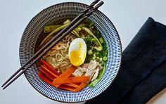 """Nothing inspires a ramen craving more than a cold, winter day. Stay inside and make your own with one of these five healthy recipes ranging from traditional chicken ramen to spiralized daikon ramen and a """"clean-out-the-fridge"""" version loaded with leftover vegetables. This is definitely not the sodium-laden ramen of your college days. 1.CHICKEN RAMEN WITH ..."""