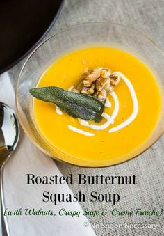 ... | Butternut squash soup, Roasted butternut squash soup and Soups