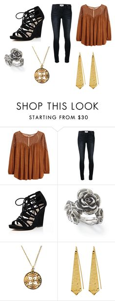 """Alice 2"" by bexie16 on Polyvore featuring H&M, Frame Denim, River Island, Natures Jewelry, Nikko and Panacea"