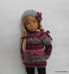 NEW HAND KNITTED OUTFIT FOR SASHA  DOLL .