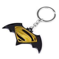 a8e4bca596e Crazy hot selling movie ker chains superhero Batman v Superman logo keyring  for men jewelry. VillainCave