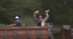 Josh and Tyler walking into the club like...