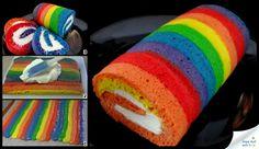 Rainbow swiss roll....a must try :)