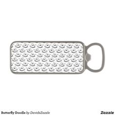 Butterfly Doodle Bottle Opener  #butterfly #doodle #drawing #cartoon #illustration #line #black #home #decor #interior #design #kitchen #dining #apartment #dorm #college #fun #cute
