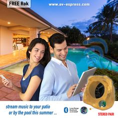 #WIN Best Bluetooth Rock Speakers for #patio,#backyard, #landscape,#outdoorliving, and swimming #pool ideas! Wirelessly stream your music outside this summer for #fathersday ideas. #sweepstakes #giveaways