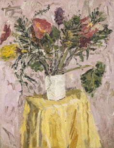 Mia Chaplin Still Life With Trembling Flowers 2016 Oil on canvas 90 x cm Crafts To Do, Hobbies And Crafts, South Africa Art, Miss Moss, Great Works Of Art, Arts And Crafts House, Local Artists, African Art, Still Life