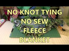 No Knot Tying No Sew Fleese Blanket - YouTube
