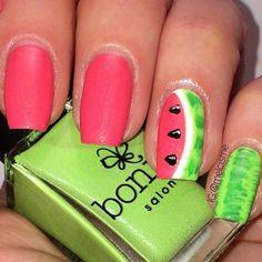 Nail Art, Nail Designs, Unique Nails, Nail It Daily Get Nails, How To Do Nails, Hair And Nails, Fancy Nails, Food Nail Art, Aztec Nails, Watermelon Nails, Nagellack Design, Nail Polish