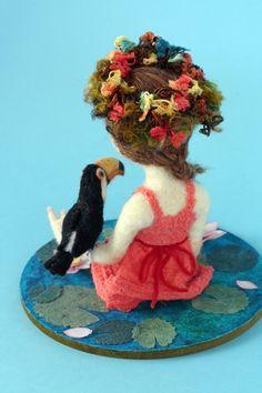 Flowers and birds - felt art by Yoomoo, Japan 羊毛倉庫 鈴木千晶