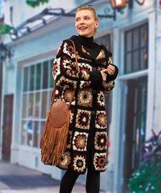"Cafe Latte Crochet Coatigan | AllFreeCrochet.com ~ gorgeous colours ~ easy level ~ bust sizes 48""-56"" ~ length 36""-42"" ~ FREE - CROCHET"