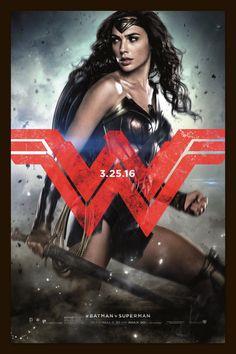 Wonder Woman  Batman vs Superman  Movie Poster Print