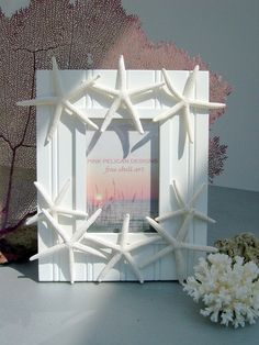 Beach Decor Starfish Frame Dancing Starfish by PinkPelicanDesigns