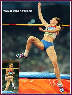 Yelena Slesarenko - Russia - in the High Jump at the 2008 Olympics (result) Olympic Sports, High Jump, Sports Women, Athletes, Olympics, Russia, Dance, Running, Dancing
