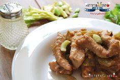 PULPA DE PORC CU TELINA (APIO) Chicken Wings, Sausage, Meat, Celery, Pork, Sausages, Chinese Sausage, Buffalo Wings