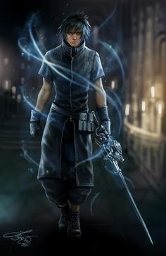 Noctis Lucis Caleum. Fan art. Final Fantasy XV.