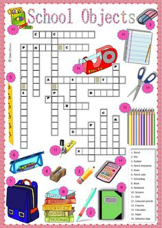 school objects interactive and downloadable worksheet. Check your answers online or send them to your teacher.