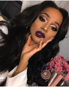 38 Eyeshadow Makeup Tips Ideas For Black Women - Make Up Ideas - Makeup Makeup On Fleek, Flawless Makeup, Glam Makeup, Gorgeous Makeup, Eyeshadow Makeup, Hair Makeup, Eyeshadow Ideas, Beautiful Lips, Makeup Brushes