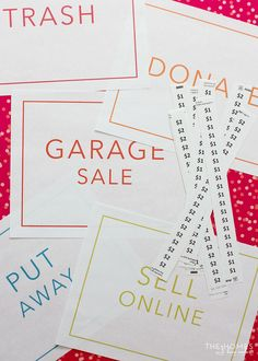 The Ultimate Garage Sale Prep Kit (a Comprehensive Printable Kit! Garage Sale Tips, Ultimate Garage, Organizing, Organization, Yard Sales, Thing 1, Selling Your House, Baby Sale, Pennies