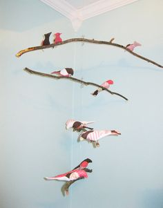 Bird+Mobile++branches++4+tiered++baby+bird++by+CriswellCreations,+$75.00