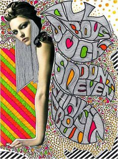 Mixed Media Girls' by Nikki Farquharson    London-based graphic designer