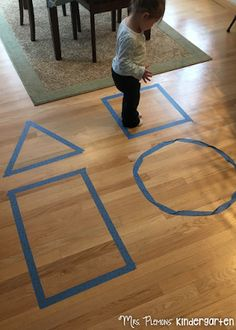 Roll and Hop Game and other Shape Themed Tot School activities and ideas. {Mrs. Plemons' Kindergarten}