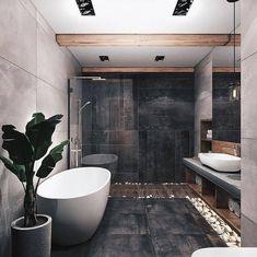 On a budget bathroom design ideas. Every bathroom remodel starts with a design i… On a budget bathroom design ideas. Loft Design, Design Case, House Design, Design Design, Bathroom Design Inspiration, Bad Inspiration, Design Ideas, Interior Inspiration, Bathroom Goals