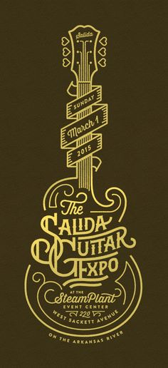 Design something with this technique Typography Letters, Typography Design, Branding Design, Logo Design, Typography Inspiration, Graphic Design Inspiration, Guitar Logo, Guitar Art, Design Art