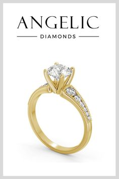 Look sophisticated and stunning with a vintage engagement ring. Available in yellow gold, white gold and rose gold, this diamond engagement ring is sure to turn heads.