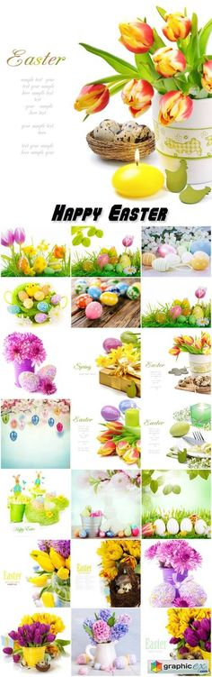 Happy Easter background Easter compositions  stock images