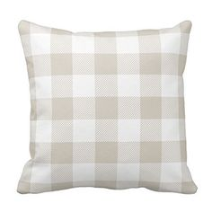 Light Blue and White Plaid Pillow Case Decor Cushion Pillow Covers Brief Design Pillowcase Cover Two Sides Plaid Throw Pillows, Grey Pillows, Decorative Pillow Cases, Throw Pillow Cases, Grey Pillow Covers, Buffalo Check Pillows, Pillowcase Pattern, My Living Room, Living Spaces
