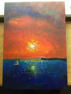 "Porthcawl Harbour Acrylic 16x11"" for sale"