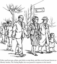 Dover Publications Civil Rights Coloring Book Free Sample