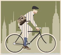 illustration for this year's tweed run (first in NYC)