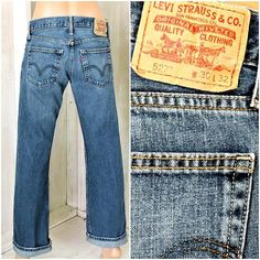 def04360 Vintage Levis 527 jeans 30 X 32 / size 7 / 8 / LEVI'S / dark wash / mid  rise / faded / Levi Strauss bootcut jeans / mens / womans
