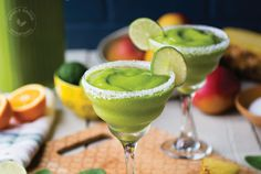 Tropical Mango-Rita Green Smoothie - Simple Green Smoothies