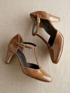 1920s Style Shoes -  NIA T-STRAP PUMPS $201.99  at Pendleton's   #1920s #shoes