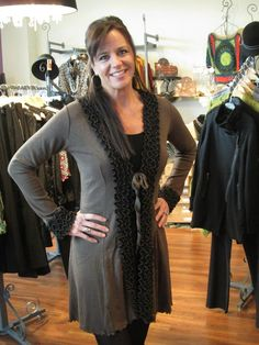 Another great look from a local Minnesota designer!  The detail on this cardigan is incredible!