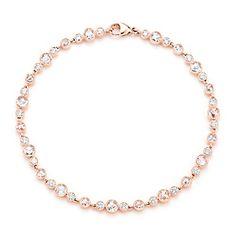 Tiffany Cobblestone Diamond Bracelet in 18k rose gold with diamonds.