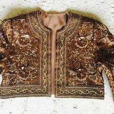 beaded jacket - details.