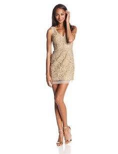 93cab02760 Amazon.com  BCBGMAXAZRIA Women s Marissa Vneck Dress