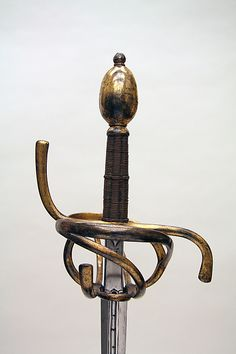 Rapier, ca. 1600–1620. German. The Metropolitan Museum of Art, New York. Gift of George D. Pratt, 1929 (29.16.10) #sword