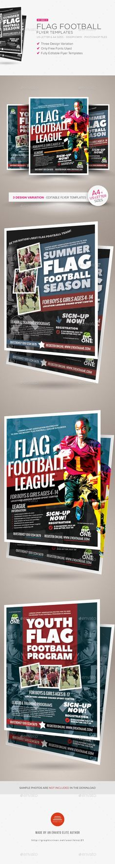Flag Football Flyer Templates - Sports Events (scheduled via http://www.tailwindapp.com?utm_source=pinterest&utm_medium=twpin)
