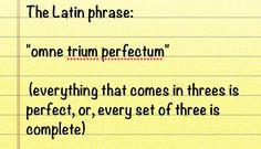 """Threes a charm - tänkte mer en version av """"Three is a charm"""", resten är förklaring varför"""