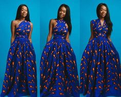 African print infinity dress -Can be worn more than 6 different ways side pockets -Made with cotton high quality African print wax fabric -fully lined -back zipper S - Bust: Waist: Hips: M - Bust: Waist: Hips: L - Bust: Waist: Hips: African Maxi Dresses, Ankara Dress Styles, African Attire, African Wear, Prom Dresses, Ladies Dresses, African Style, African Print Fashion, Africa Fashion