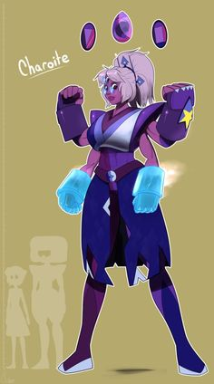 """So I was kinda bored the other day and thought to myself, """"What would Garnet and Lapis look like fused together? Unlikely fusion! Charoite is born! Steven Universe Fan Fusions, Steven Universe Fusion, Steven Universe Memes, Universe Love, Universe Art, Gem Fusions, Fanart, Kawaii, Cool Cartoons"""