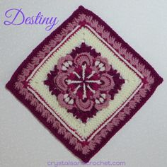Destiny 12 inch crochet afghan square